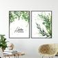Zestaw dwóch plakatów - home garden , wymiary - 40cm x 50cm 2 sztuki, kolor ramki - biały