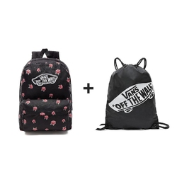Plecak vans realm black  rose backpack vn0a3ui6rdu + worek szkolny - 23668