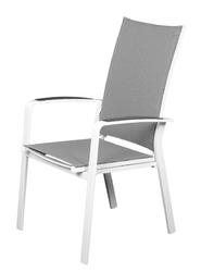 Miloo :: krzesło ogrodowe obiadowe rozkładane laura szare