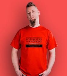 Powiedziałem dziecku t-shirt męski czerwony xl