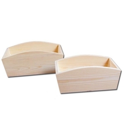 Pojemnik bez otworów drewniany 28x16x11,5 cm - 28x16x11,5
