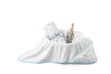 ColorStories - Ręcznik bawełniany z kapturem 90×90 cm MilkyWay Mint M
