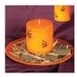 Świeca pomarańczowa z dyniami - 7,5 cm - 1 szt.