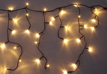 Lampki ogrodowe 180 led, ciepłe białe, kurtyna