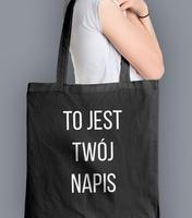 Koszulka z twoim napisem bebas neue torba na zakupy czarna universal
