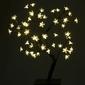 Drzewko świecące 48 led, ciepłe białe, bonsai kwiatki