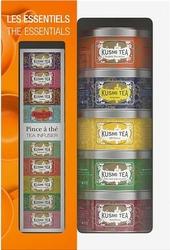 Herbaty kusmi the essentials w zestawie  z zaparzaczką 5 x 25g