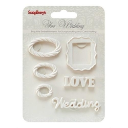 Polimerowe dekoracje z przylepcem - Wedding 3 - 1020