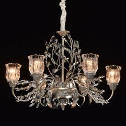 Luksusowy żyrandol w stylu kwiatowym 6-ramienny chiaro flora 298012106