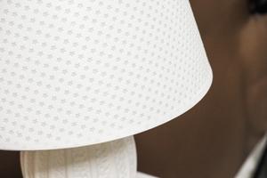 Lampka nocna biała h - 45.5 cm