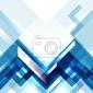 Naklejka niebieskie tło abstrakcyjna nowoczesny geometryczny