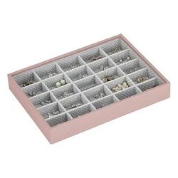 Pudełko na biżuterię 25 komorowe classic Stackers różowo-szare