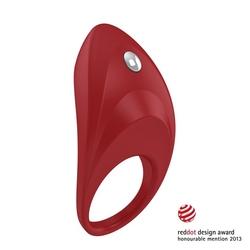 Pierścień wibrujący na penisa - ovo b7 vibrating ring  czerwony
