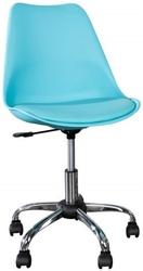 Krzesło biurowe Jakob nowoczesny turkus