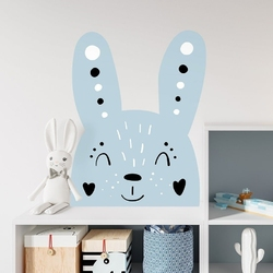 Naklejka na ścianę - blue rabbit , wymiary naklejki - szer. 80cm x wys. 100cm