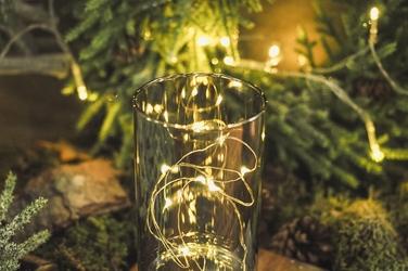 Świecznik szklany led 15,2 cm mix kolorów