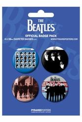 Beatles Blue - zestaw 4 przypinek