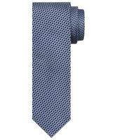 Niebiesko szary krawat jedwabny w delikatny wzór
