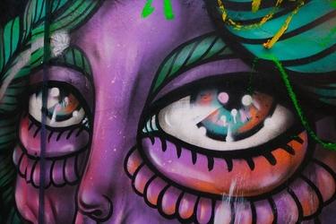 Fototapeta na ścianę spojrzenie fioletowego kosmity fp 4159