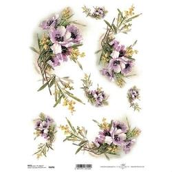 Papier ryżowy ITD A4 R1096 kwiaty