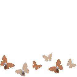 Wieszaczki ścienne Millions of Butterflies CalleaDesign jasnobrązowe 50-13-2-23