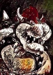 Legends of bedlam - bowser, mario nintendo - plakat wymiar do wyboru: 29,7x42 cm