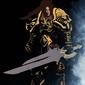 Blizzardverse stencils - varian, the king of alliance, warcraft - plakat wymiar do wyboru: 40x50 cm