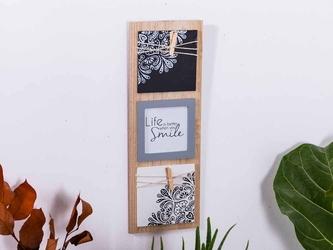 Tablica na zdjęcie wisząca drewniana altom design mandala 15 x 42 cm 1 zdjęcie 10 x 10 cm