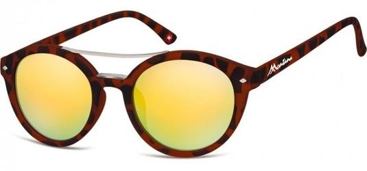 Okulary okrągłe panterka lenonki lustrzane ms21b