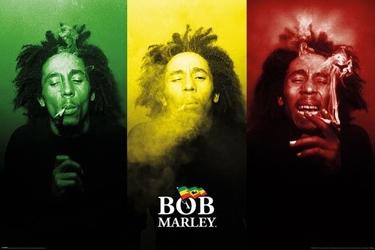 Bob marley tricolour smoke - plakat