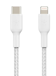 Belkin kabel braided usb-c lightning 1m biały