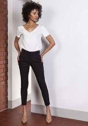 Czarne spodnie cygaretki 78 z wysokim stanem