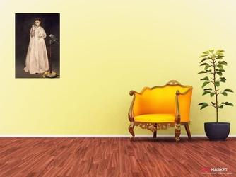 kobieta z papugą - edouard manet; obraz - reprodukcja