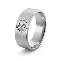 Obrączka srebrna ze znakiem równowagi - wzór ag-386