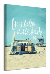 VW Life is Better at the Beach - obraz na płótnie