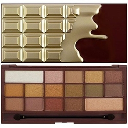 Makeup revolution 16 eyeshadows i love makeup chocolate golden bar, 22g