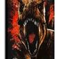 Jurassic world: upadłe królestwo t-rex - obraz na płótnie