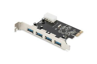 Digitus Karta rozszerzeńKontroler USB 3.0 PCI Express, 4xUSB 3.0, Chipset: VL805