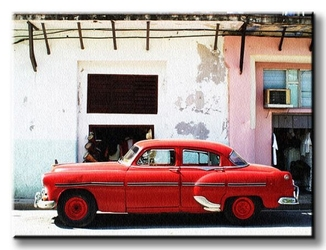 Havana cuba - cadillac - obraz na płótnie