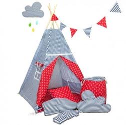 Namiot tipi dla dziecka marynarski sen - zestaw midi