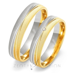 Obrączki ślubne złoty skorpion – wzór au-oe214