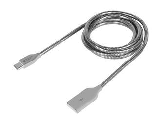 NATEC Kabel Extreme Media microUSB BM-AM 2.0 1m srebrny metal
