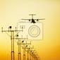 Fototapeta lądowanie samolotu śmigło