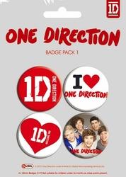 One Direction - zestaw 4 przypinek
