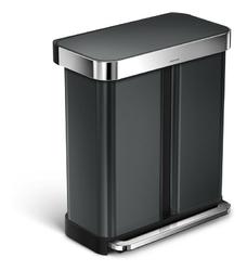Kosz na śmieci pedałowy Liner Pocket Recycler 58 l czarny