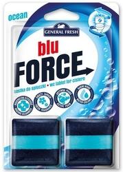 General fresh, blue force, morska, kostka do spłuczki,  2 sztuki