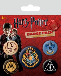Harry Potter Hogwart - przypinki z filmu