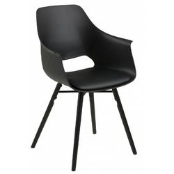 Krzesło z podłokietnikami ramen czarne