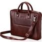 Skórzana torba męska na laptopa burgundowa solier - burgundowy
