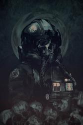Gwiezdne wojny star wars skull pilot - plakat premium wymiar do wyboru: 70x100 cm